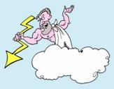 Zeus con un fulmine