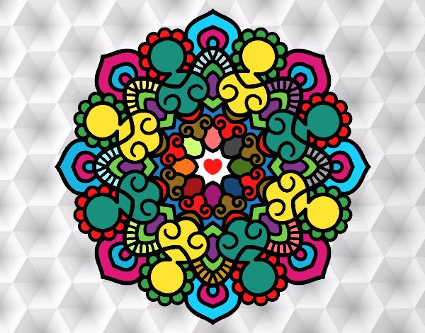 Disegno Mandala incontro pitturato su ZiaDome