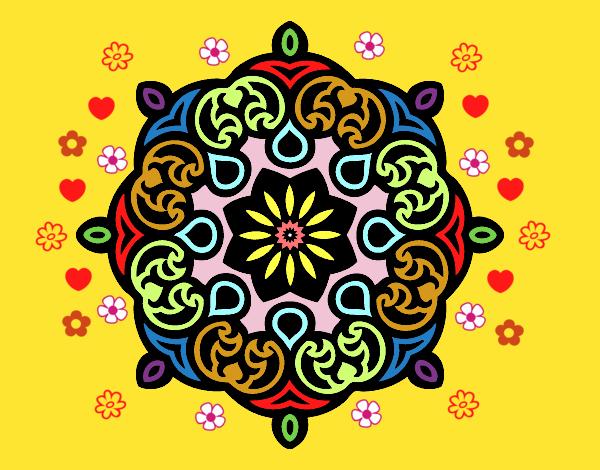 Disegno Mandala nube pitturato su ZiaDome