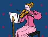 Dama violinista