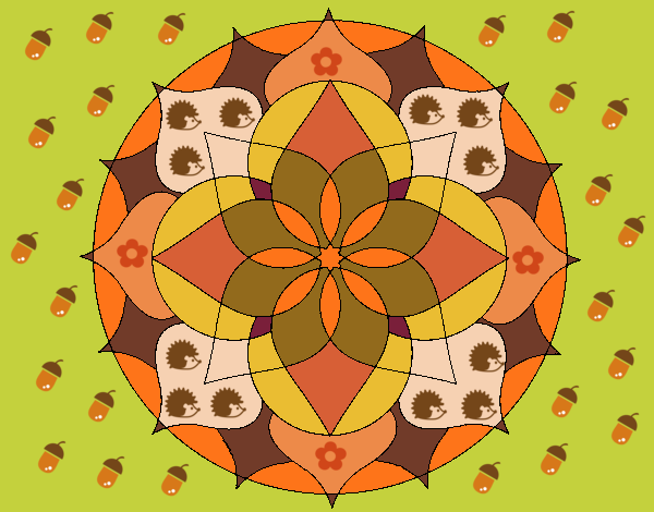 Disegno Mandala 14 pitturato su ZiaDome