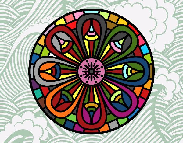 Disegno Mandala matite pitturato su ZiaDome