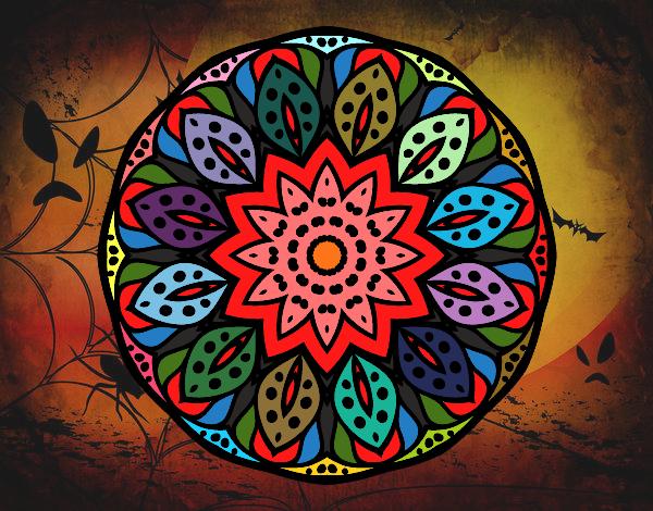 Disegno Mandala natura pitturato su ZiaDome