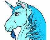 Disegno Testa di unicorno  pitturato su lavinia6