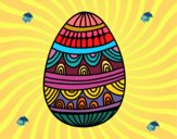 un uovo di Pasqua decorato