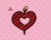 Candela a forma di cuore