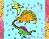 Tre specie di dinosauri