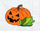 Zucca di halloween decordada