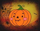 Zucca di Halloween simpatico