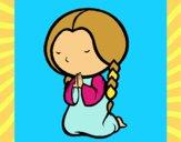 Bambina che prega