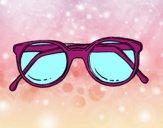 occhiali rotondi di pasta