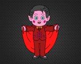 Disegno Piccolo vampiro pitturato su Mathias