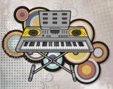 Disegno Piano Sintetizzatore pitturato su Mathias