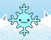 Fiocco di neve kawaii