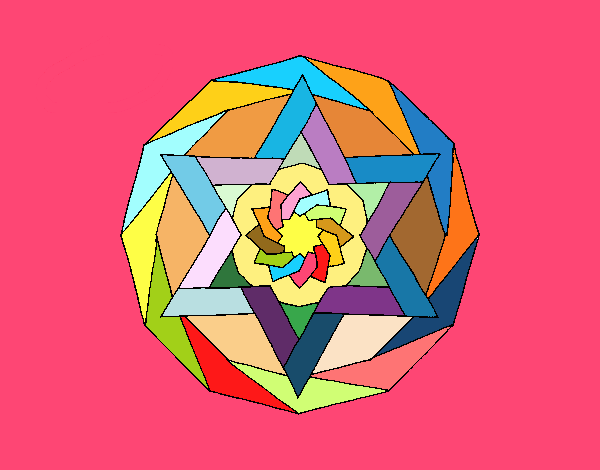 Disegno Mandala 18 pitturato su ZiaDome