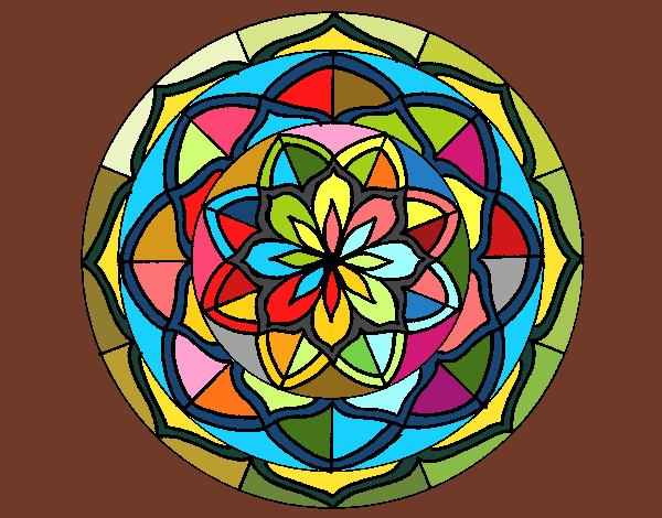 Disegno Mandala 6 pitturato su ZiaDome