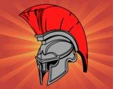 Casco romano di guerriero