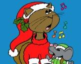 Gatto e topolino di Natale