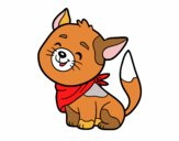 Gatto con la bandana