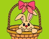 Coniglietto nella cesta