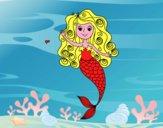 Sirena con riccioli