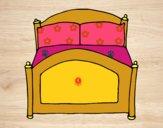 Disegno di camera da letto da colorare - Crea la tua camera da letto ...
