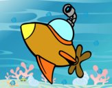 Sottomarino alla superficie