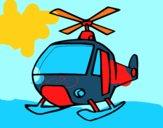 Disegno Un elicottero pitturato su michele10