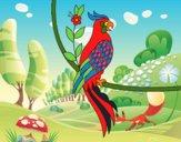 Tatuaggio di pappagallo