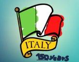 Disegno Bandiera d'Italia pitturato su OnlyZyra