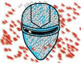 Maschera raggio laser