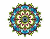 Mandala flash florale