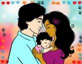 Famiglia abbraccio