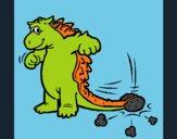 Dinosauro che agita la coda