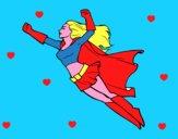 Super girl volante