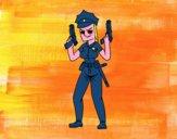 Una poliziotta femminile