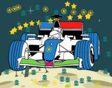 Disegno Auto di F1  pitturato su amirotto