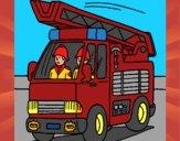 Disegno Camion dei Pompieri  pitturato su mamob007