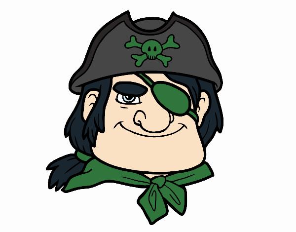 Disegno Capo pirata pitturato su Giuggy