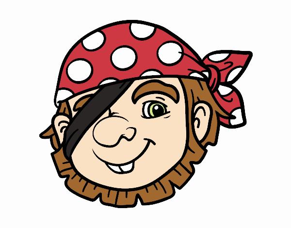 Disegno Pirata semplice pitturato su Giuggy