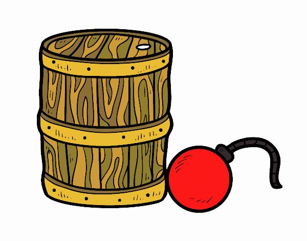 Disegno Polvere da sparo e pirata bomba pitturato su Giuggy