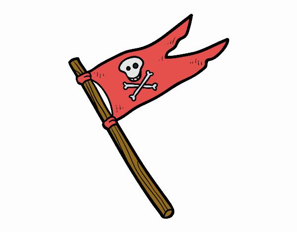 Disegno Una bandiera pirata pitturato su Giuggy
