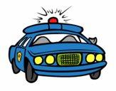 Disegno Auto della polizia pitturato su DiegoBa