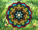 Disegno Mandala petali di fiori pitturato su LucaRix