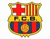 Disegno Stemma del FC Barcelona pitturato su LucaRix