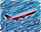Disegno Aereo in volo  pitturato su trighei