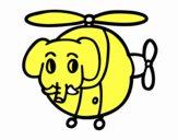 Elicottero con elefante