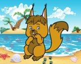 Un piccolo scoiattolo