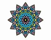 Mandala stella floreale