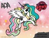 Disegno Princess Celestia pitturato su ada2012